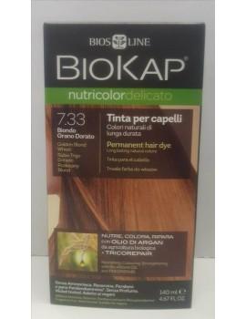 BioKap Nutricolor Delicato Tinta 7.33 Biondo Grano Dorato
