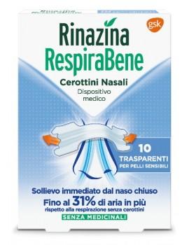 Rinazina Respirabene Cerotto Nasale Adulti 10 Cerotti Trasparenti